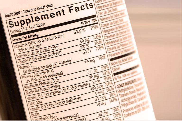Nutrition Facts Label representing the Nutritionals Industries